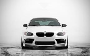 Picture BMW, BMW, white, white, front, E92, GTS5