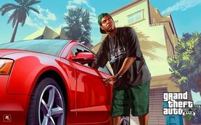 Picture machine, house, art, Grand Theft Auto V, Rockstar Games, Lamar