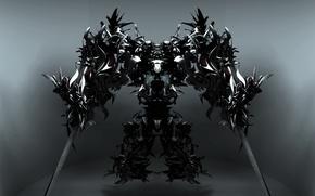 Picture robot, swords, Seraph
