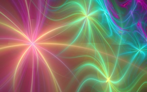 Picture stars, rays, line, abstraction, Wallpaper, figure, fractal, fuzzes