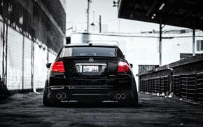 Picture black, honda, Honda, rear, accord, chord, acura, stance, Acura