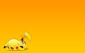 Picture stay, Wallpaper, cartoon, sleep, anime, Pikachu, pokemon, pokemon, Pikachu