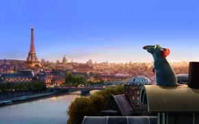 Wallpaper Paris, cartoon, mouse, Ratatouille