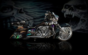 Picture design, style, background, power, motorcycle, airbrushing, bike