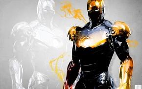 Picture red, background, iron man, marvel, comics, iron man, Tony stark, stark