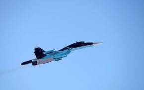 Picture time, the plane, fighter, bomber, BBC, generation, defender, OKB, Russian, Dry, frontline, Fullback, Su-34, Russia., …
