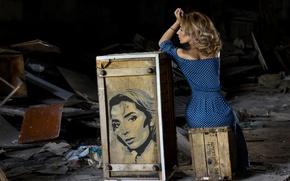 Picture girl, fantasy, art, Anton Belovodchenko, fairy place, Christina Viardo, romantic woman, risunok