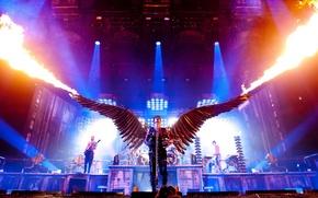 Picture fire, scene, Germany, concert, Rammstein, Angle, the Germans, Rammstein, Lindemann, Engel, Till. Lindemann, Thill