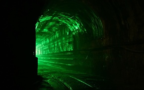 Wallpaper The darkness, Green, The tunnel