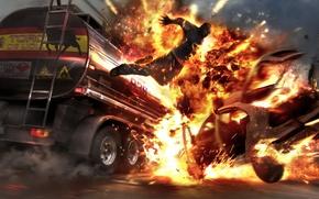 Picture Fire, The explosion, Burning Man, Wheelman Tankerjump, Boom