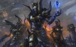 Picture crystal, weapons, war, art, armor
