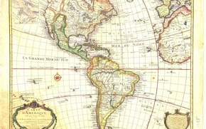 Picture europe, america, map, colored, atlantic, maps, middle age