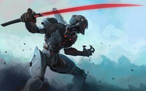 Picture sword, robot, cyborg