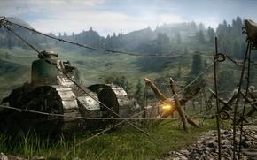 Wallpaper war, the game, tank, the battle, Electronic Arts, Battlefield 1