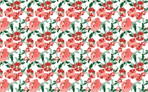 Wallpaper flowers, pattern, peonies