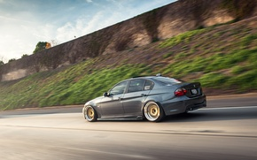 Picture road, BMW, speed, BMW, 335i, sedan, 3 series, stance