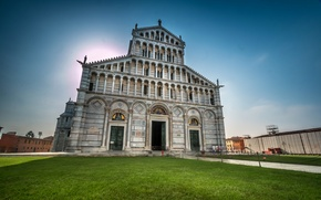 Picture the sky, grass, Italy, Pisa, facade, Cathedral