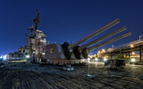 Picture night, weapons, ship, USS Salem (CA 139)