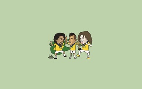 Picture joy, football, Cup, Marcelo, Neymar, David Luiz, Brazil, the winners, the confederations Cup