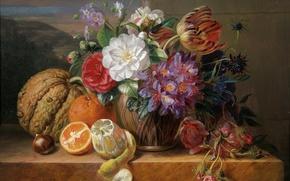 Picture still life, painting, Adriana Johanna van Haahen