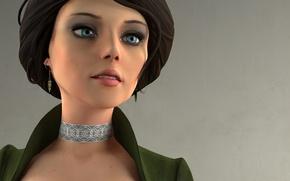 Picture look, girl, rendering, character, BioShock Infinite, Elizabeth