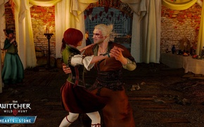 Picture girl, dance, Geralt, DLC, The Witcher 3: Wild Hunt, Hearts of Stone, Heart Of Stone, …