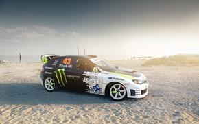 Wallpaper Impreza, auto, Subaru, sand