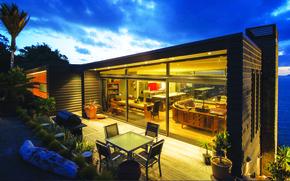 Picture house, interior, terrace, exterior