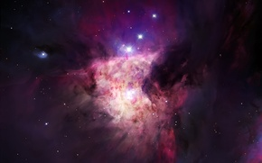 Picture space, nebula, beautiful, purple