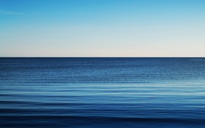 Picture wave, water, blue, surface, gradient, Bay, waves, blue, water, shades, gulf, horizon