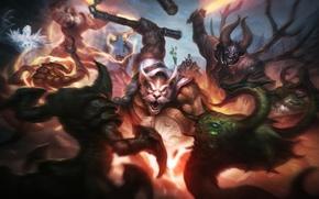 Picture dota 2, Doom, Lucifer, Mangix, Brewmaster