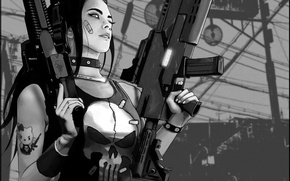 Picture weapons, Girl, The Punisher, Punicher, Patty Rahkola