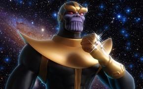 Picture villain, Titan, Marvel Comics, Thanos