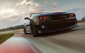 Picture Chevrolet, Muscle, Light, Camaro, Red, Car, ZL1