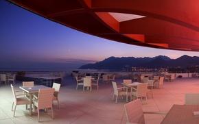 Picture design, style, interior, restaurant, the hotel, terrace