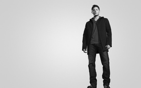 Picture black and white, Supernatural, Jensen Ackles, Jensen Ackles