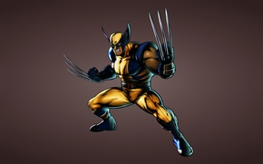 Picture Wolverine, X-Men, toothy, wolverine, comic, dark background, Marvel Comics, X-Men, kogtistiy