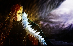 Picture fairy tail, deohvi, laxus dreyar, scar, art, guy, anime, fur, tale of fairy tail, muscles