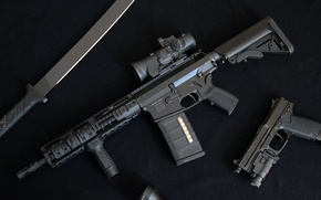 Picture gun, weapons, Automatic rifle, DMR, OA-10