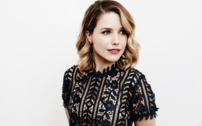 Wallpaper background, Sophia Bush, Maarten de Boer, actress, hairstyle, makeup, photographer, Sophia Bush