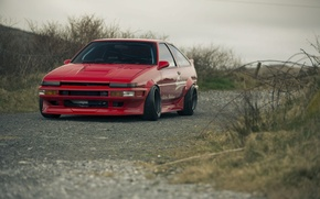 Picture Red, Red, Toyota, AE86, Toyota, Corolla, Corolla