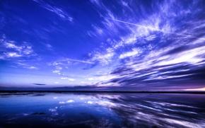 Wallpaper Landscapce, Dram, Blue Azure