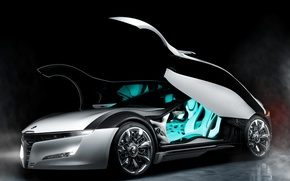 Wallpaper door, Alfa Romeo, the concept car, side view, Pandion