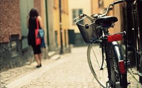 Wallpaper bike, the city, street, bicycle, photography, bike, woman, street
