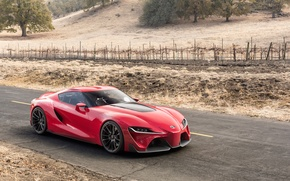 Picture auto, Concept, red, the concept, Toyota, beauty, Toyota, FT-1