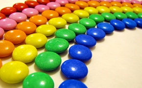Picture color, rainbow, pills, candy, food