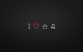 Picture music, love, house