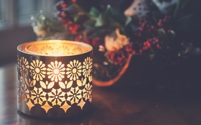Picture light, pattern, candle