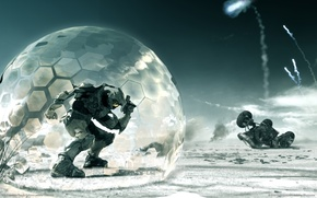 Picture Wallpaper, the situation, armor, shield, halo 3, Spartan