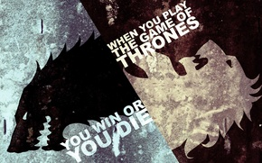 Picture ice, white, flame, black, wolf, Leo, the series, Game of Thrones, Game of thrones